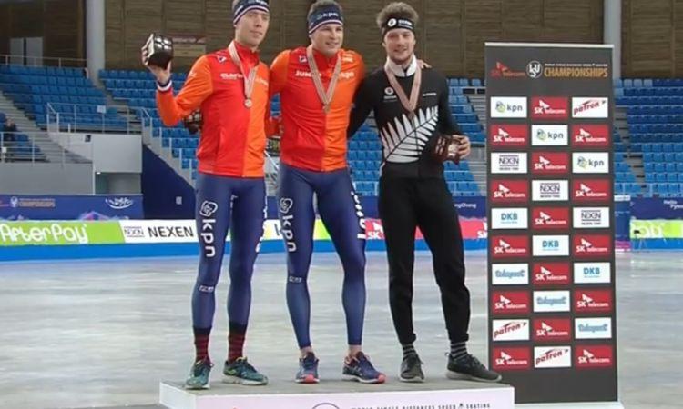 Viking schittert op podium 5000 meter WK Gangneung