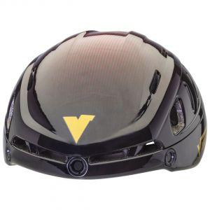 helmet sparrow black-red without visor