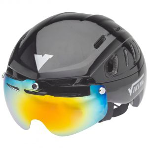 helmet sparrow black- dark coated visor