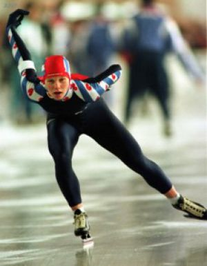 Tonny de Jong, the first international champion with Viking clap skates